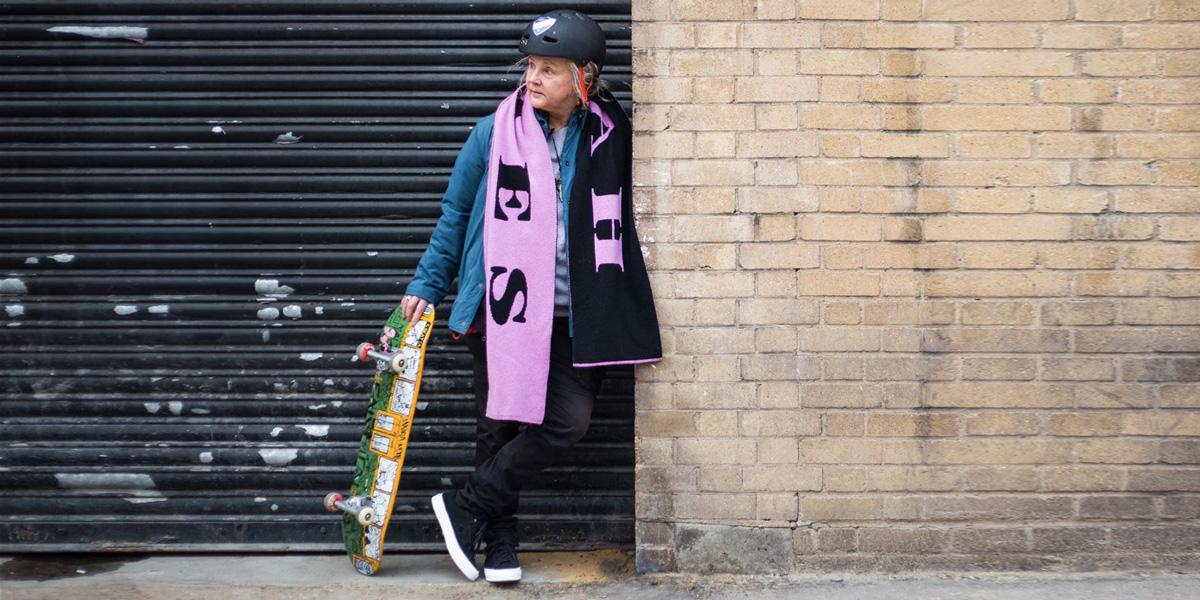 Bunica din skatepark. Nivel de coolness: plus infinit